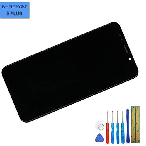 E-YIIVIIL Neuer Ersatz LCD Bildschirm Touchscreen Digitizer kompatibel mit Xiaomi Redmi 5 Plus Bildschirm LCD Assembly Glas Schwarz + Rahmen