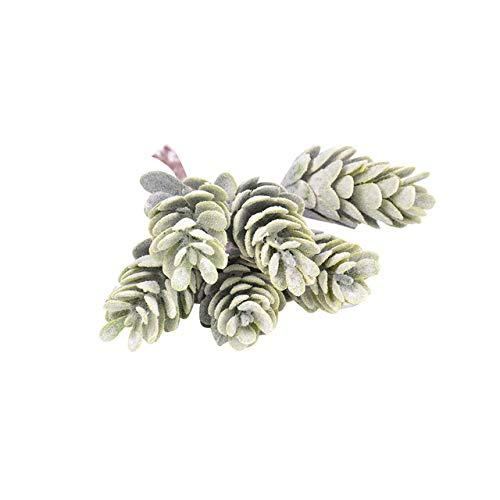 Xinger 6 hoofd kerst kunstmatige pijnboompitten kegels kunstbloemen tak ananas gras voor bruiloft krans scrapbooking decor, a1