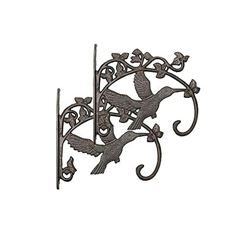 Soporte de planta colgante, Gancho de planta colgante de montaje en pared, Colgador de planta de metal decorativo para colgar Plantas Linterna de flores Alimentador de pájaros Campanas de viento