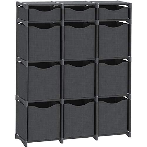 12 Cube Organizer | Set of Storage Cubes Included | DIY Closet Organizer Bins |...