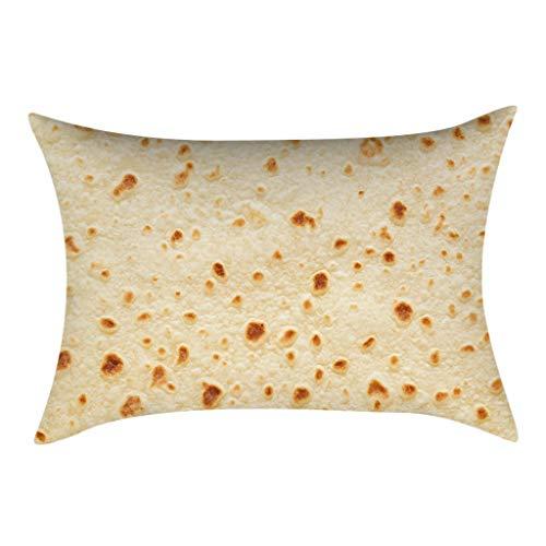 30 cm x 50 cm Mexikanische Burritos Kissenbezug Sofakissen, Fällen Wurfkissen Einzigartiges Design Kissenbezug Für Sofa Couch Schlafzimmer (A)