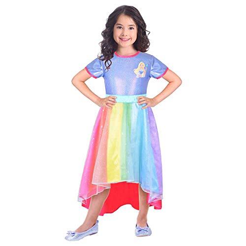 Amscan 9904434 - Disfraz infantil de Barbie (116 cm), multicolor , color/modelo surtido