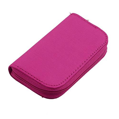 Rouku 4 Colores SD SDHC MMC CF para Almacenamiento de Tarjeta de Memoria Micro SD Bolsa de Transporte Bolsa Caja Caso Titular Protector Billetera Tienda al por Mayor