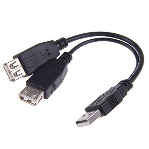 Chenyang USB 2.0un maschio al doppio di dati USB 2.0a femmina + cavo di alimentazione USB 2.0a femmina cavo di estensione 20cm