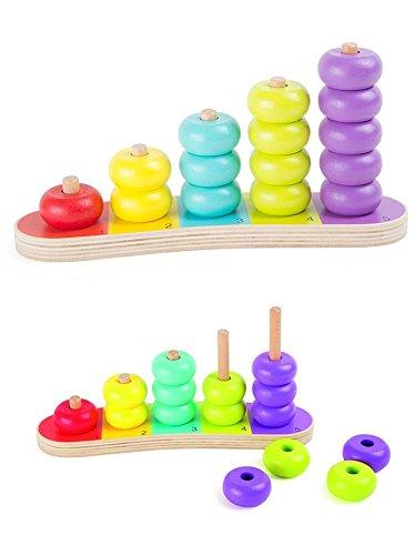 Boulier en bois et planche d'apprentissage de calcul pour les petits, idéal maternelle
