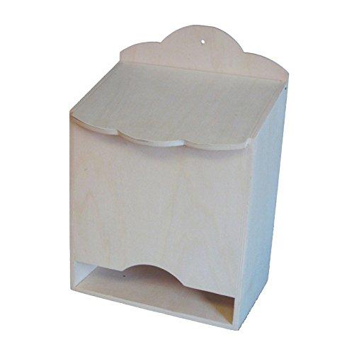 greca Caja para pañales de Madera. En Crudo, para Pintar. Medidas (Ancho*Fondo*Alto): 25 * 17 * 37 cm.