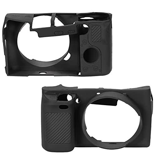 Camerabehuizing, duurzaam Stijlvol lichtgewicht draagbaar siliconen cameratasje met riem Gemakkelijk toegankelijk ontwerp voor camerabescherming(black)