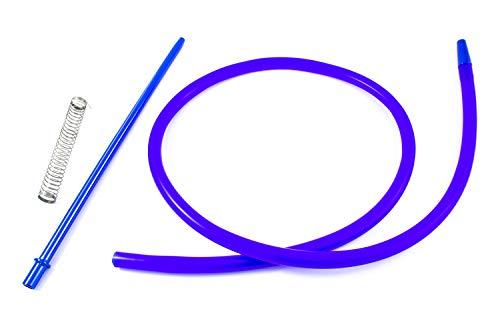 PAIDE P Haken für Shisha Shisha - Inklusive Feder und Düse aus hochwertigen Materialien mit außergewöhnlichen Oberflächen (Blau)
