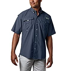 SUN PROTECTION: Columbia Men's PFG Bahama II Short Sleeve fishing shirt features our signature UPF 30 fabric that helps to blocks UVA and UVA rays to help prevent sunburns and skin damage during long hours in the sun. HANDY FEATURES: This short sleev...