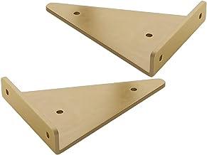 2 Packs Driehoek Verborgen Ijzeren Plankbeugels Heavy Duty DIY Drijvende Planken Ondersteuning Industriële Wandmontage Ind...