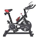 SAFGH Bicicleta estática, Bicicleta de Ciclismo de Interior, Bicicleta estática Resistencia magnética Whisper Quiet para Entrenamiento Cardiovascular en casa Volante Pesado y cómodo cojín de Asien