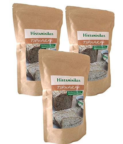 3er Pack Tipharah helle Brotbackmischung | histaminfrei | glutenfrei | vegan | fodmap-bewusst