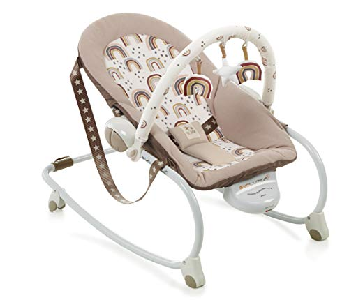 Jané Evolution - Gandulita Convertible En Silla Infantil, De 0 A 36 Meses, Con Música Y Vibración, 3 Posiciones De Respaldo, Plegado Compacto, Unisex