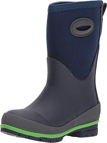 Western Chief Kid's Cold Rated Neoprene Memory Foam Snow Boot, Navy, 13 M US Little Kid