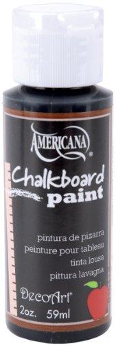 DecoArt Americana Chalkboard Paint, 2-Ounce, Black Slate