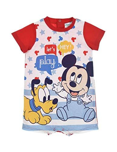 Barboteuse bébé garçon Mickey et Pluto Bleu et Rouge de 6 à 24mois - Blanc/Rouge, 24 Mois