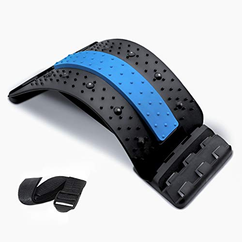 RushBack Back Stretcher for Pain Relief MultiLevel Spine Stretcher with Magnetic Acupressure Points for Upper and Lower Back Pain Sciatica Scoliosis