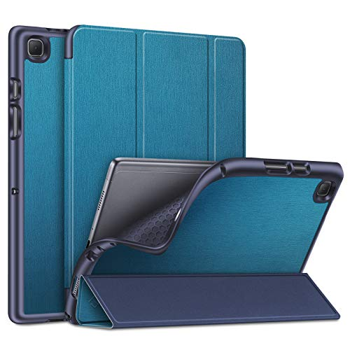 Fintie Funda para Samsung Galaxy Tab A7 10.4' 2020 - SlimShell Carcasa Trasera de TPU Suave con Auto-Reposo/Activación para Modelo SM-T500/T505/T507, Azul Verde