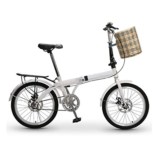 Affordable ZHEDYI 7-Speed Male and Female Adult Folding Bike Bicycles, 20-inch Wheels Lightweight Fo...