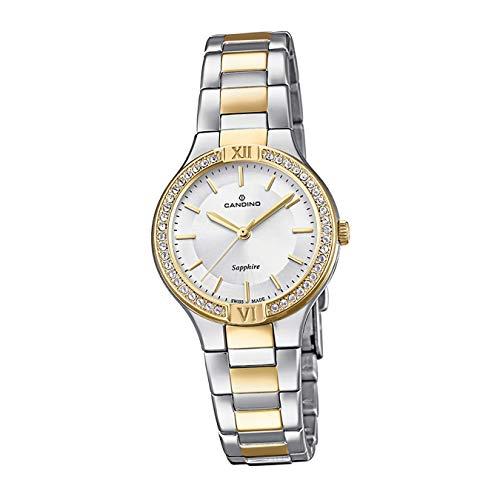 Candino C4627/1 - Reloj de Pulsera analógico para Mujer, Acero Inoxidable, Plateado, D2UC4627/1, un Regalo para Navidad, cumpleaños, día de San Valentín para la Mujer
