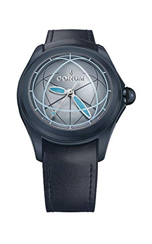 Corum da uomo Heritage Bubble Blue Leather Band IP Steel case Automatic...