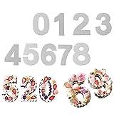 9 piezas Molde para hornear, juego de números pequeños de 0 a 9, 6 pulgadas moldes para tartas hornear figuras tortenbackform, plantilla números para cumpleaños bodas aniversario decoración de tartas