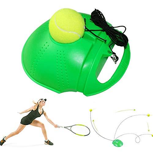 sylbx Entrenador de Tenis, Tennis Trainer Set, Trainer Baseboard con 1 Bolas de Rebote, Herramienta Entrenador Tenis para Tenis Práctica Entrenamiento Niños Adultos Jugador Principiante