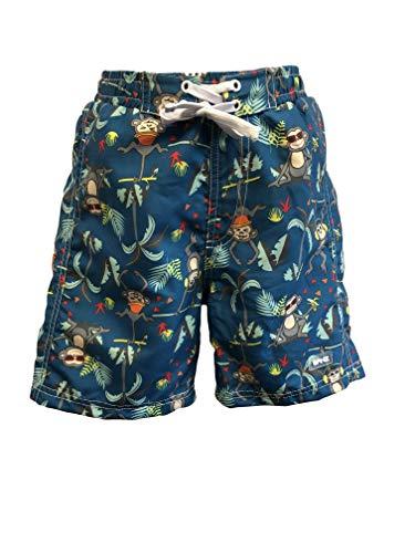 Banz Shorts-S19bspj2 Shorts, Petrol Jungle, Medium Bébé garçon