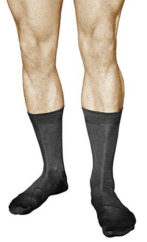 vitsocks 3 Paar Herren Business Socken, MERCERISIERTE BAUMWOLLE, Klassisch, 42-43, schwarz