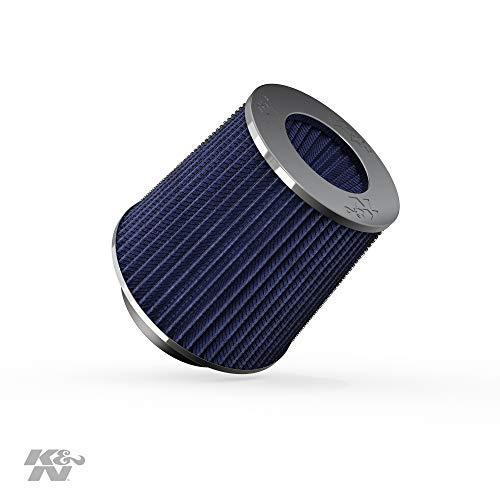 K&N RG-1001BL Universele luchtfilter voor auto en motor, chroom