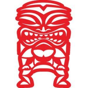 Pegatina Promotion Tiki Hawaii Maori Maui Figur 20 cm Aufkleber Sticker Autoaufkleber Wandtattoo Surf Kite Surfen Wassersport Fun Sea