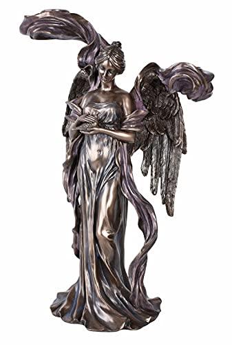 Kerzenleuchter Jugendstil Engel Kerzenständer Frauenfigur Tischleuchter Antikstil AN10010A4 Palazzo Exklusiv