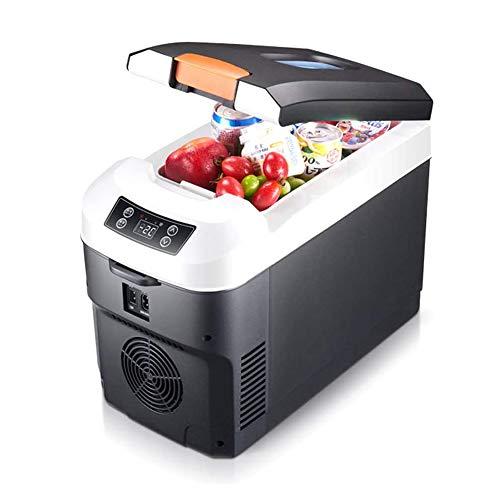 xxz Congelador portátil de refrigerador, mini refrigerador de coche con correa de doble núcleo tecnología de enfriamiento, para uso en el hogar del coche DC 12/24 V CA 240 V negro