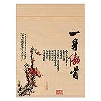 RZEMIN ロール竹カーテン ナチュラルプリントロールアップシェード、背景装飾リビングルームの寝室用の調整可能なライトバンブーカーテン、複数のサイズ (Color : Bamboo-A, Size : 55cmx150cm)