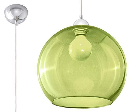 Sollux Lighting BALL Pendelleuchte, Glas, Grün, Chrome