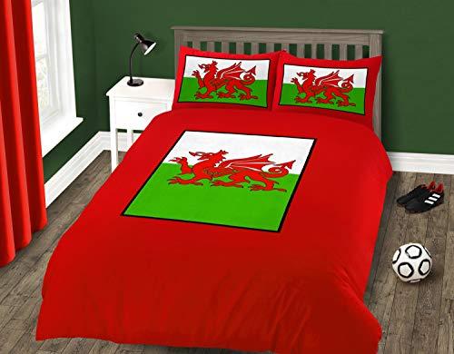 Intimates Single Bed Welsh Dragon Duvet/Quilt Cover Quality Bedding Set