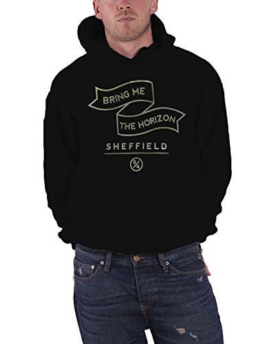 Bring Me The Horizon Banner Homme Nouveau Noir Pullover Sweat-Shirt À Capuche Size S