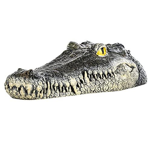 #11 1x Krokodilkopf 33 cm - schwimmend - Gartenteich Deko Figur Teich Dekoration Tier Schwimmtier Teichfigur Kunststoff