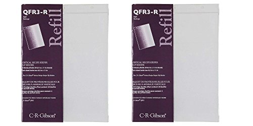 C.R. Gibson 10 Count Refill for Vertical Flip Recipe Keeper (2 pack)