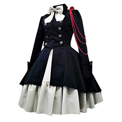 PPangUDing Mittelalterkleid Damen Retro Gothic Steampunk Viktorianischen Prinzessin Renaissance Abendkleider Partykleid Hexenkostüm Halloween Cosplay Kostüm Für Brautjunfer Karneval Fasching