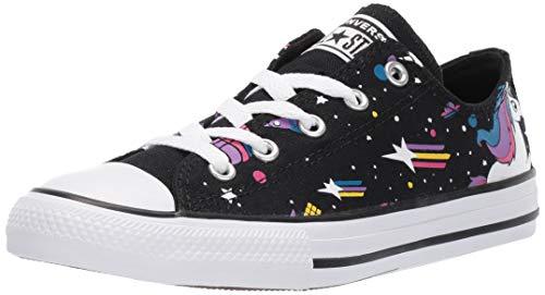 Converse Girls' Chuck Taylor All Star Unicons Sneaker, Black/Mod Pink/White, 4 M US Big Kid