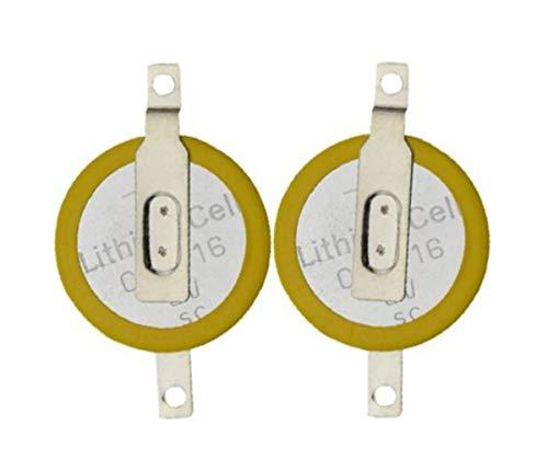 Par de pilas de botón CR1616 2 piezas con vástago para soldar compatibles con juegos cartuchos Game Boy