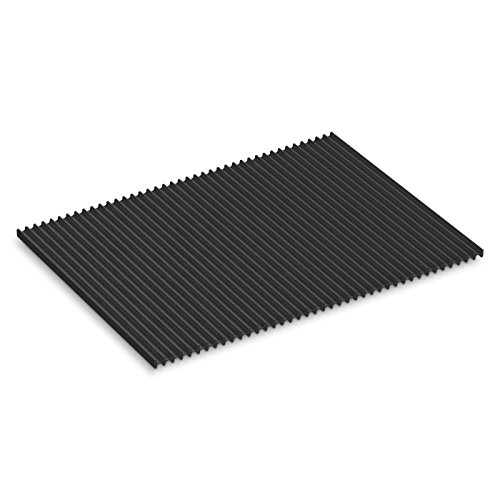 KOHLER Storable Large Silicone Dish Drying Mat 11' x 15', Heat Resistant up to 500 Degrees F, Charcoal - K-5472-CHR
