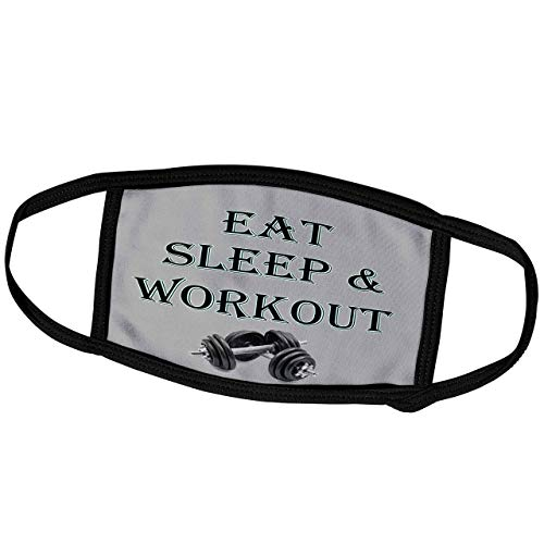 Lplpol Month Mask - RinaPiro - Funny Quotes - Eat, Sleep and Workout. Gym, Sport. Popular Saying - Dust Mask Outdoor Protective Mask