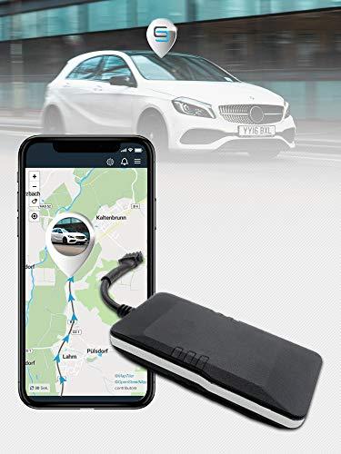 SALIND GPS-Tracker Auto, Motorrad, Fahrzeuge und LKW´s mit Direktanschluss an KFZ-Batterie (9-75V)