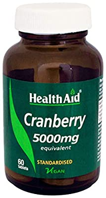 HealthAid Cranberry 5000mg - 60 Vegan Tablets