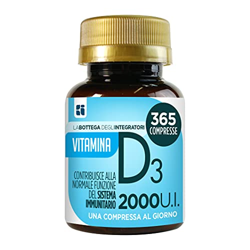 Vitamina D 365 compresse 1 al giorno 2000 UI 50 µg |per il sistema immunitario | ossa e denti | non di origine animale