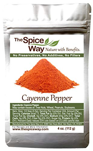 The Spice Way Premium Cayenne Ground - Ground Cayenne Pepper, No Additives, No Agents, Pure. 4 oz