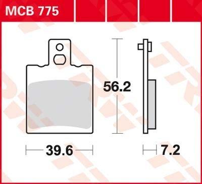 Lucas TRW Bremsbeläge MCB 775 hinten Aprilia RS Extrema 125 GS 93-98