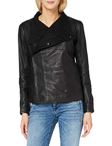 G-STAR RAW Womens Collar Slim Blazer wmn Leather Jacket, dk Black 568-6484, Small